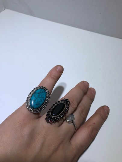 Vintage Vintage turquoise stone silver ring Image 1
