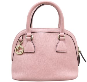 Gucci Calfskin Dome Mini Satchel in Pink