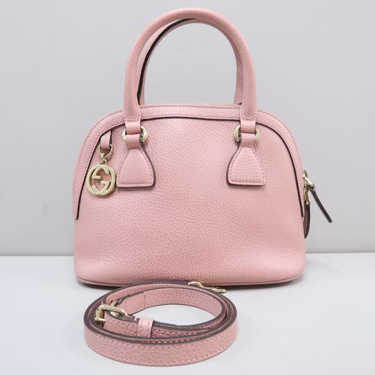 Gucci Calfskin Dome Mini Satchel in Pink Image 1