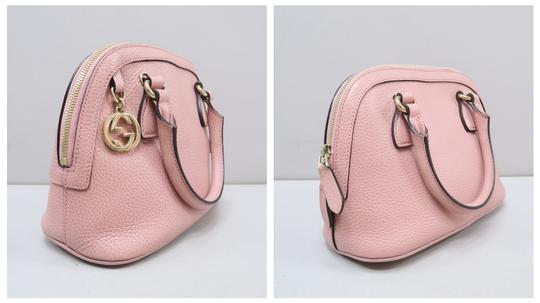 Gucci Calfskin Dome Mini Satchel in Pink Image 3