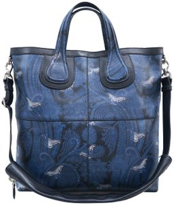 Givenchy Calfskin Butterfly Muiticolor Satchel in Blue