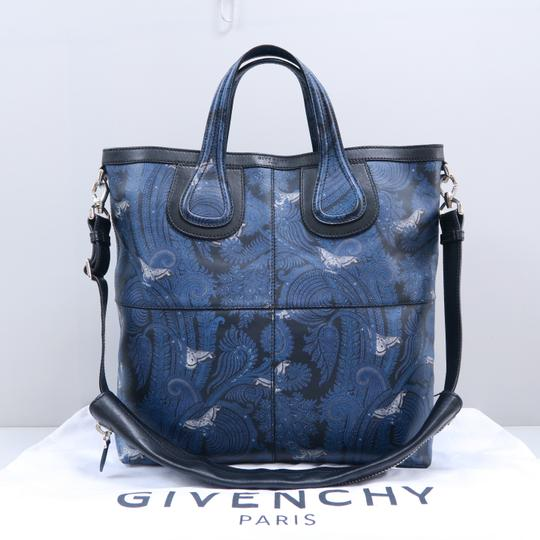 Givenchy Calfskin Butterfly Muiticolor Satchel in Blue Image 1