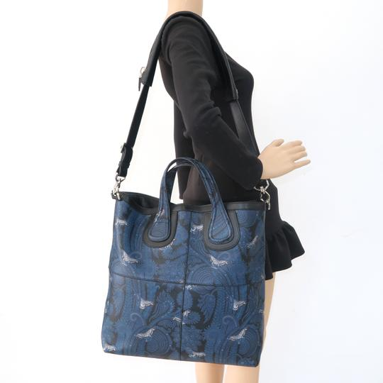 Givenchy Calfskin Butterfly Muiticolor Satchel in Blue Image 11