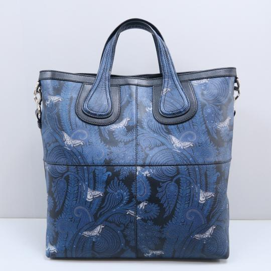 Givenchy Calfskin Butterfly Muiticolor Satchel in Blue Image 2