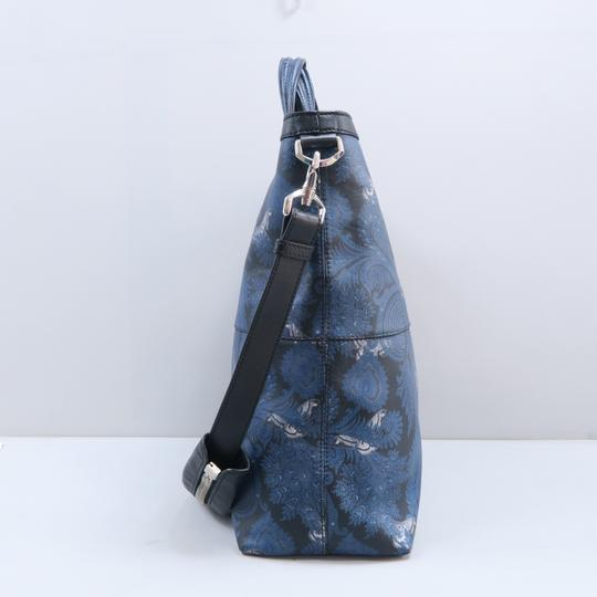 Givenchy Calfskin Butterfly Muiticolor Satchel in Blue Image 3