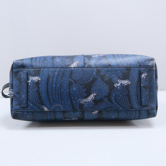 Givenchy Calfskin Butterfly Muiticolor Satchel in Blue Image 5