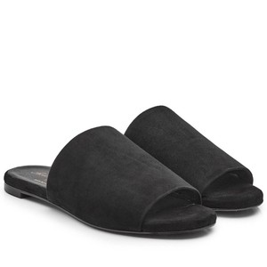 Robert Clergerie Casual Sandal Suede Black Flats