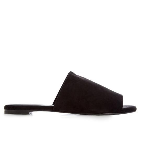 Robert Clergerie Casual Sandal Suede Black Flats Image 2
