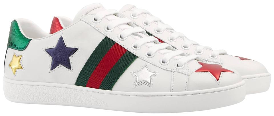 172874062 Gucci White Men's Ace Embroidered Sneakers Size EU 41 (Approx. US 11 ...