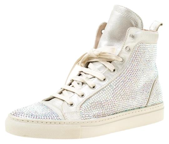 Preload https://img-static.tradesy.com/item/25123429/le-silla-grey-light-suede-crystal-embellished-high-top-sneakers-flats-size-eu-38-approx-us-8-regular-0-1-540-540.jpg