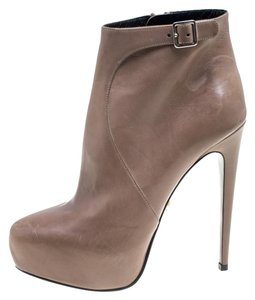 Prada Leather Ankle Beige Boots