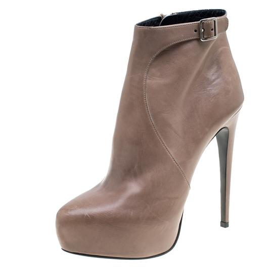 Prada Leather Ankle Beige Boots Image 1
