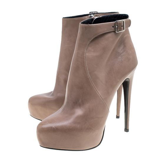 Prada Leather Ankle Beige Boots Image 2