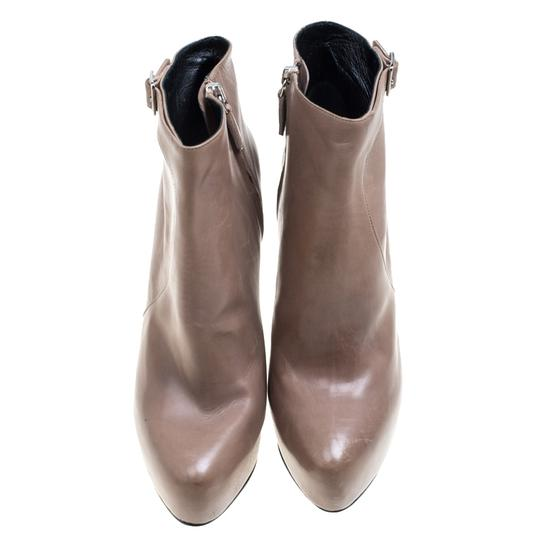 Prada Leather Ankle Beige Boots Image 3