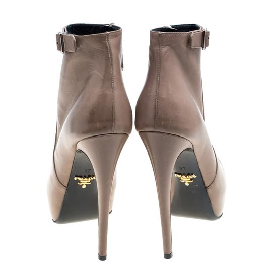 Prada Leather Ankle Beige Boots Image 4