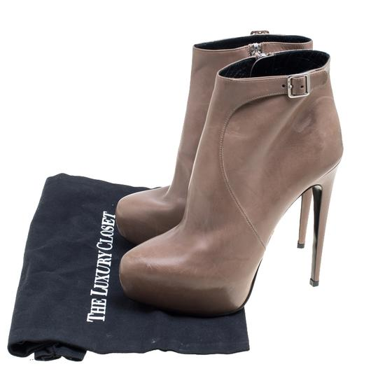 Prada Leather Ankle Beige Boots Image 7