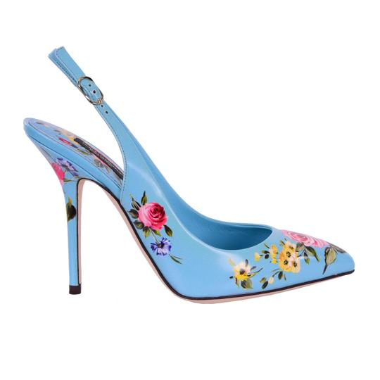 Preload https://img-static.tradesy.com/item/25123522/dolce-and-gabbana-blue-pink-yellow-roses-printed-slingbacks-bellucci-pumps-size-eu-38-approx-us-8-re-0-0-540-540.jpg