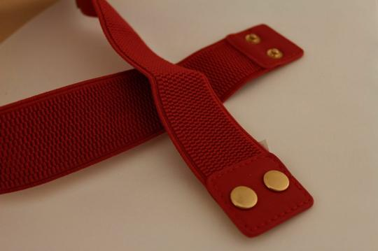 Alwaystyle4you Red Gold Metal Plate New Women Elastic Belt High Waist Hip Image 10