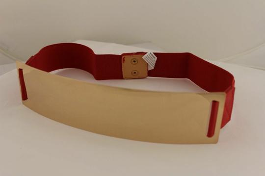 Alwaystyle4you Red Gold Metal Plate New Women Elastic Belt High Waist Hip Image 2