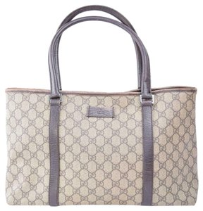 Gucci Satchel/Tote Style Excellent Vintage Gg Web Ctd Canvas/Leather Classic Satchel in brown large logo print coated canvas and brown leather