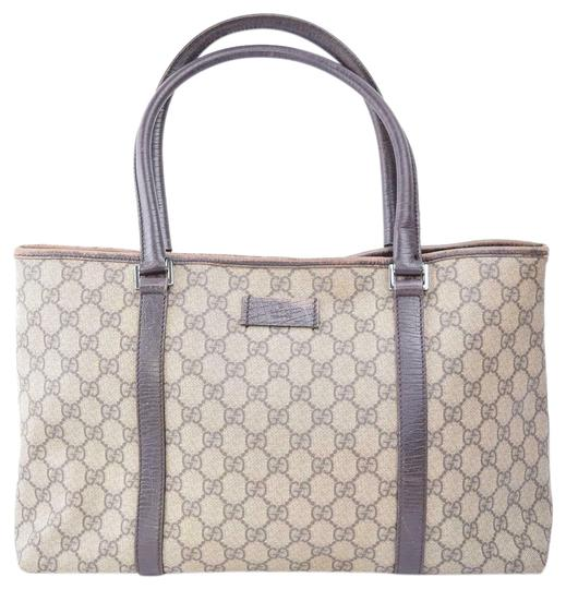 Preload https://img-static.tradesy.com/item/25123840/gucci-xl-gg-web-or-totes-brown-large-logo-print-coated-canvas-and-brown-leather-satchel-0-1-540-540.jpg