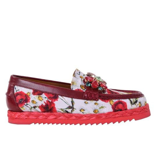 Preload https://img-static.tradesy.com/item/25123872/dolce-and-gabbana-red-white-crystals-brocade-moccasins-flats-size-eu-36-approx-us-6-regular-m-b-0-0-540-540.jpg