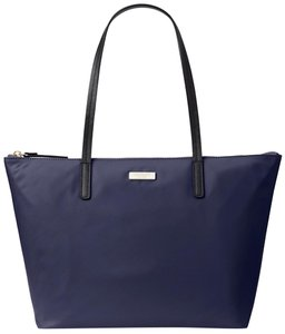 Kate Spade Nylon Leather Tote in French Navy