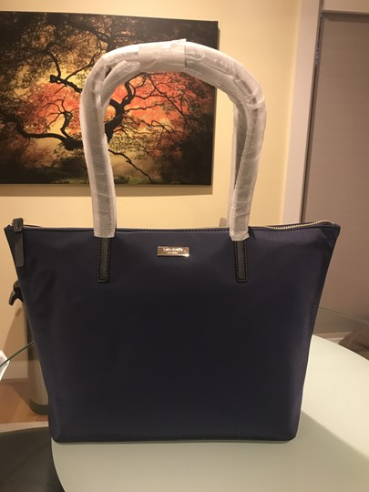 Kate Spade Nylon Leather Tote in French Navy Image 1