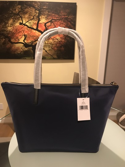 Kate Spade Nylon Leather Tote in French Navy Image 2
