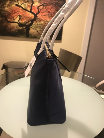 Kate Spade Nylon Leather Tote in French Navy Image 3