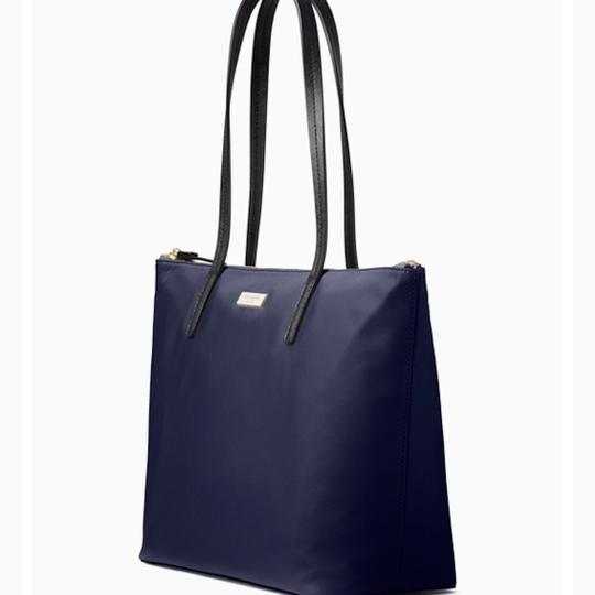 Kate Spade Nylon Leather Tote in French Navy Image 8