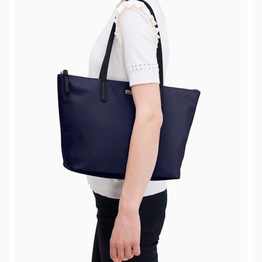 Kate Spade Nylon Leather Tote in French Navy Image 9