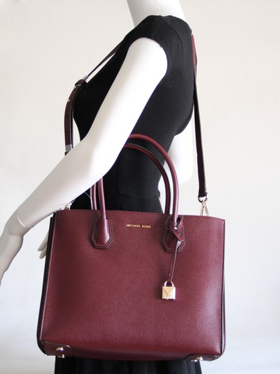 Michael Kors Mercer Leather Accordion Tote in Brown Image 2
