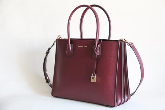 Michael Kors Mercer Leather Accordion Tote in Brown Image 3