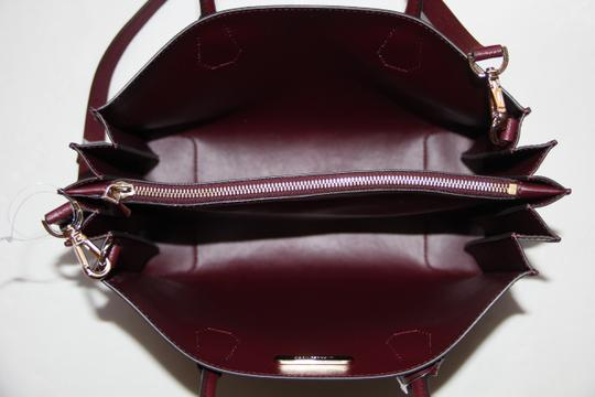 8f47886a9311 Michael Kors Mercer Accordion Oxblood Brown Leather Tote - Tradesy