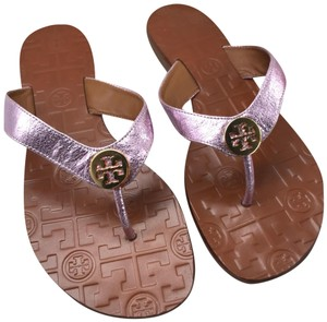 Tory Burch Pink and Gold Sandals