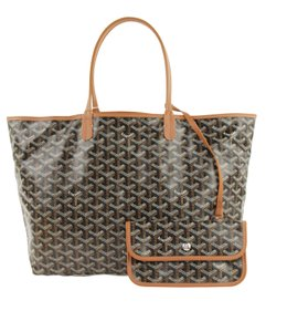 Goyard Calfskin Leather Tote in Brown