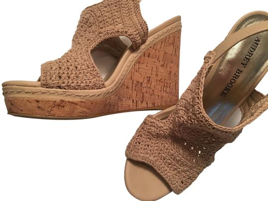 b93d24df1dd3 Audrey Brooke Designer Evening Comfortable Natural Wedges Image 0 ...