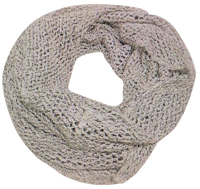 Item - Off White/Gray Open Weave Infinity Scarf/Wrap