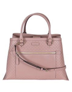 Gucci Micro Gg Leather Pink Tote