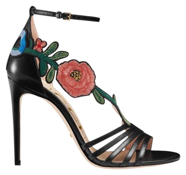 Gucci Ophelia Embroidered Leather Sandals Size EU 36.5 (Approx. US 6.5) Regular (M, B) Gucci Ophelia Embroidered Leather Sandals Size EU 36.5 (Approx. US 6.5) Regular (M, B) Image 1