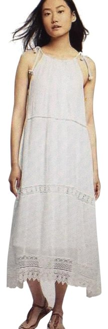 Item - White Crochet with Embroidery Long Casual Maxi Dress Size 16 (XL, Plus 0x)