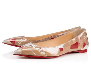 Christian Louboutin Paper Loubi Trash Brown Multicolor Flats