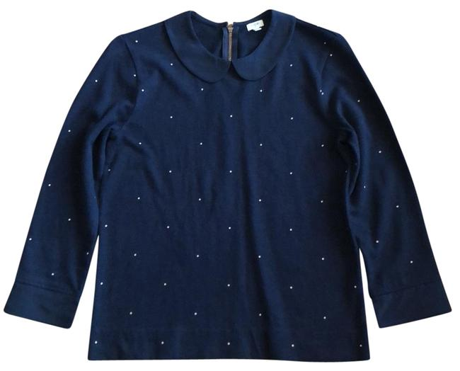 Item - Navy with Gold Dots Peter Pan Collar Tunic Size 2 (XS)
