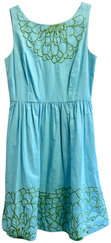 d170c4b12a8c09 Lilly Pulitzer Robin's Egg Blue Style # 96174 Mid-length Cocktail ...