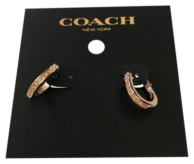 Item - Rose Gold Signature Huggie Earrings