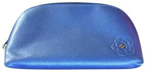 Chanel Chanel Blue Leather Cosmetic Case / Makeup Bag