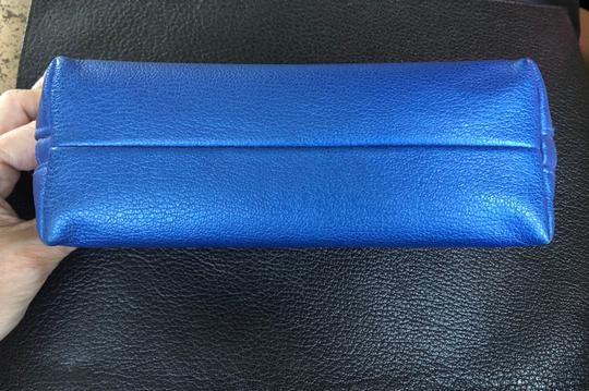 Chanel Chanel Blue Leather Cosmetic Case / Makeup Bag Image 5