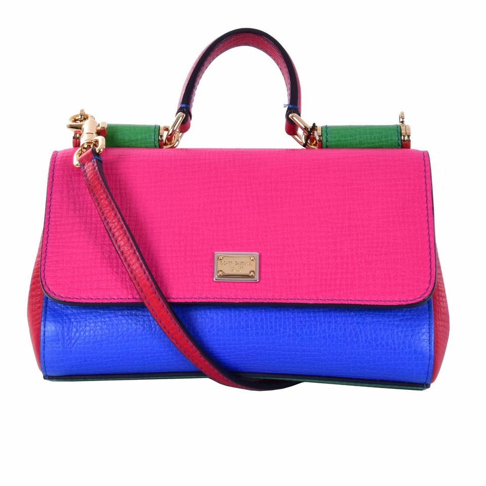 33a4d75b7ca Dolce&Gabbana Leather Miss Sicily Mini Pink / Green / Blue / Red ...