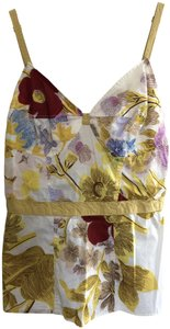 Tracy Reese Floral Camisole Top ivory multi